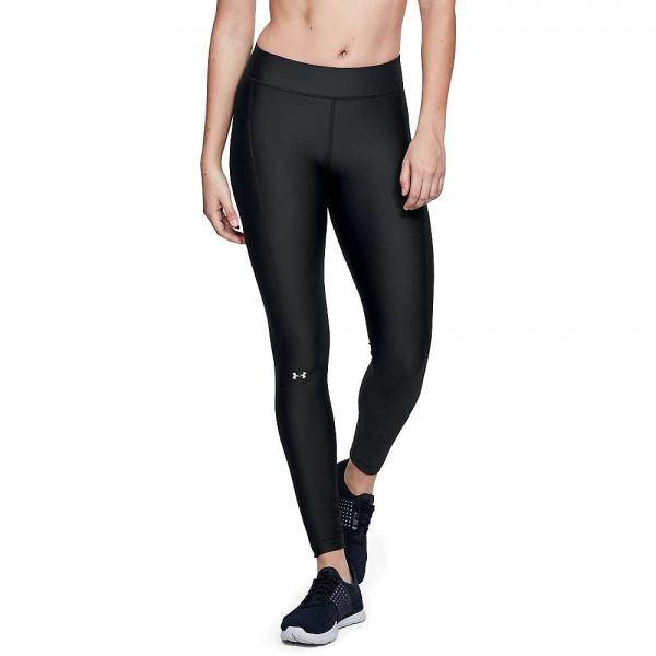 Women Heatgear Armour Legging - - Black / Black / Metallic Silver