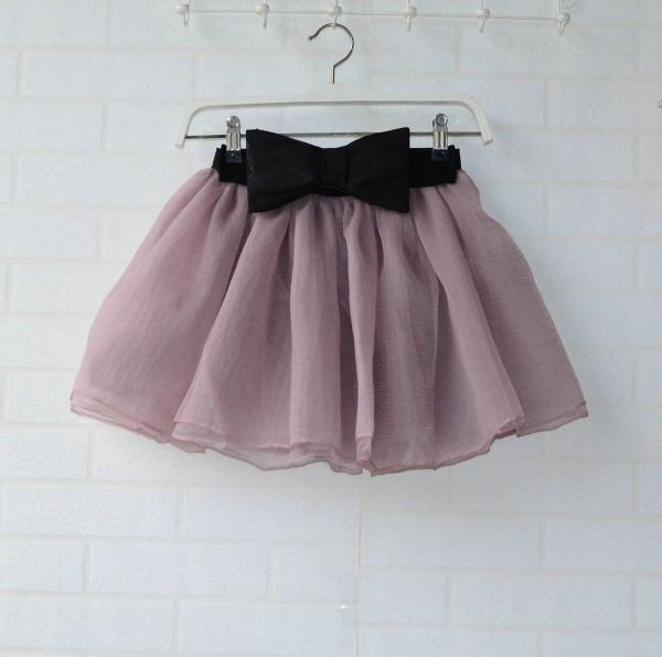 Tutu Bubble Short Elastic Waist Gauze Skirt Dot