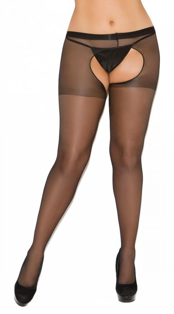 Womens Sheer Footed Crotchless  Pantyhose by Elegant Moments