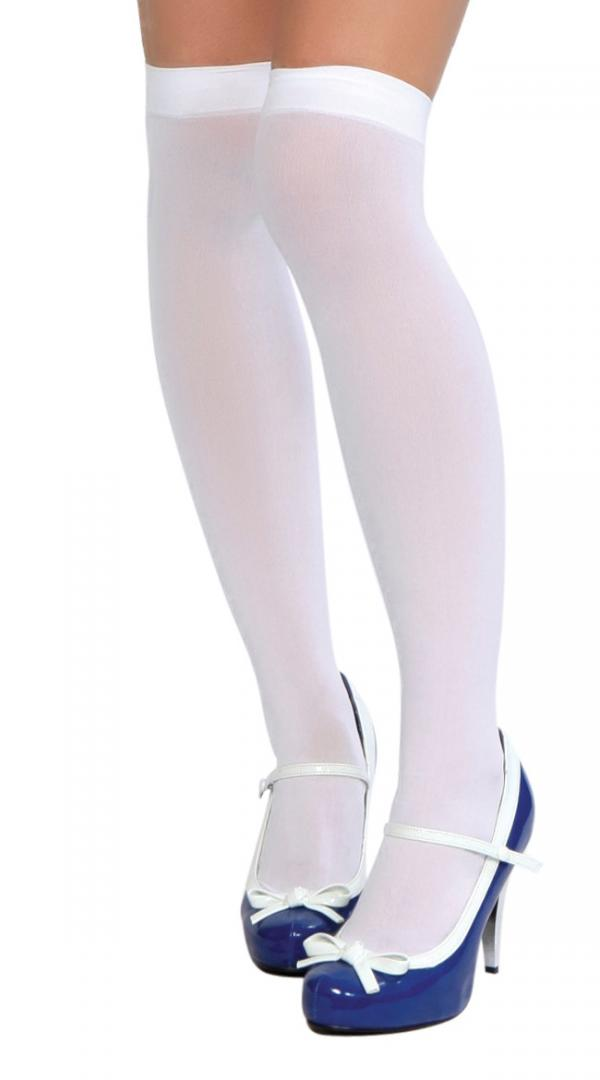 Womens Opaque Footed Thigh High  Stockings by Roma