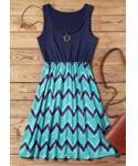 Zig Zag Print Short Dress