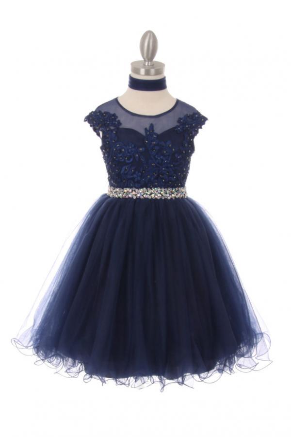 Girls Short Sleeveless Party Dress