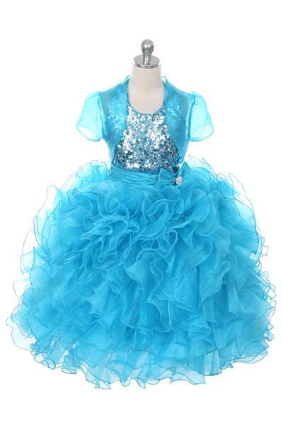 Girls Organza Sequined  Dress