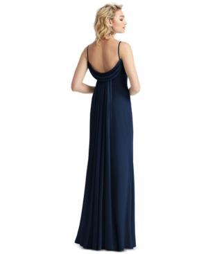 Polyester Draped Sleeveless Dress