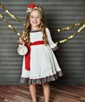 Toddler A-line    Dress With a Bow(s) and Ruffles