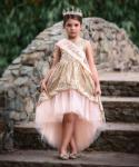 Toddler Infant High-Low-Hem Sequined Dress With a Sash